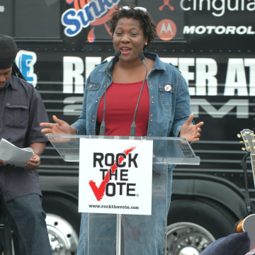 Rock the Vote 2004 National Bus Tour - Press Conference