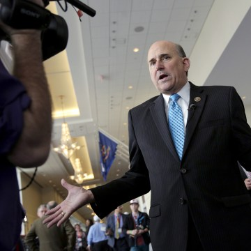 Image: Rep. Louie Gohmert (R-TX) speaks with a journalist at the 2016 Conservative Political Action Conference (CPAC) at National Harbor, Maryland, March 4, 2016.
