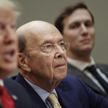 Image: Donald Trump, Jared Kushner, Wilbur Ross