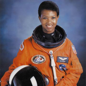 Image: Mae C Jemison, first African-American woman in space