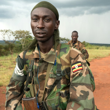 Image: A platoon sergeant in the Ugandan People's Defense Force