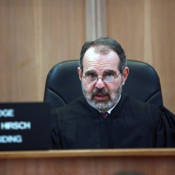 Image: Judge Milton Hirsch speaks at a hearing