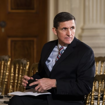 Image: US National Security Advisor Michael Flynn faces questions over contact with Russia