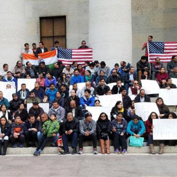 Image: The Indian community holds a candlelight vigil for Srinivas Kuchibhota in Columbus, Ohio