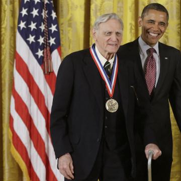 IMAGE: John Goodenough and Barack Obama