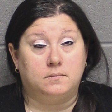 Image: Lisa Nussbaum was arrested and charged on Mar. 3, 2017, for letting her 10-year-old son drive her car on public roads and streaming it on Facebook Live.
