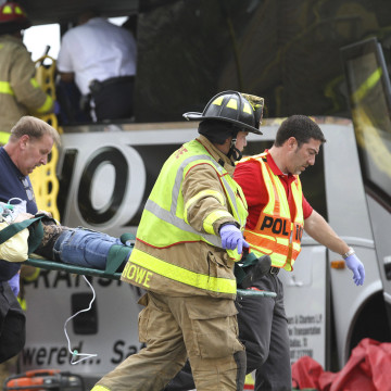 Image: Train bus collision causes deaths and injuries
