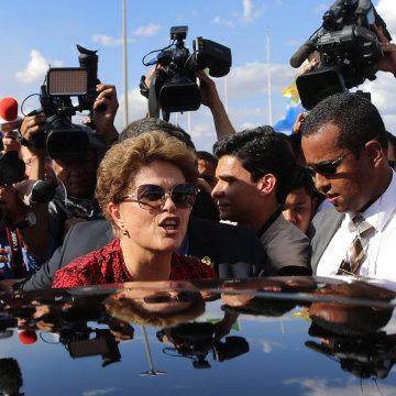 Image: Brazil's former President Dilma Rousseff,