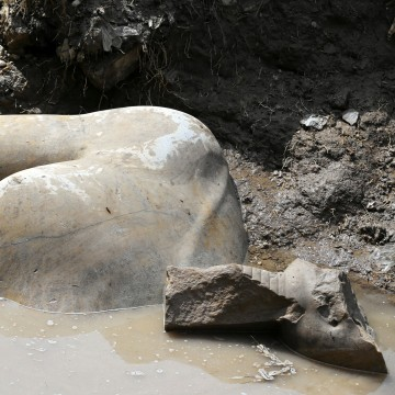 Image: The statue of the torso of Pharaoh Ramses II