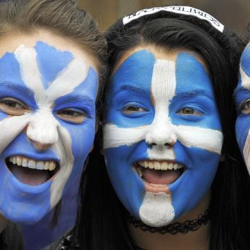Image: Backers of Scottish independence
