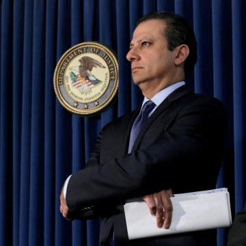 Image: Preet Bharara, U.S. Attorney for the Southern District of New York, attends a news conference in New York