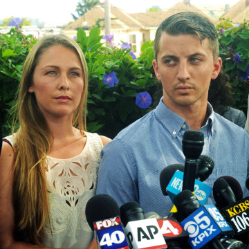 Image: Denise Huskins and her boyfriend Aaron Quinn