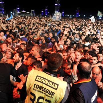 Image: Fans at Indio Solari concert in Olavarria, Argentina