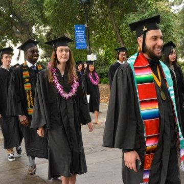 College graduation Pomona College