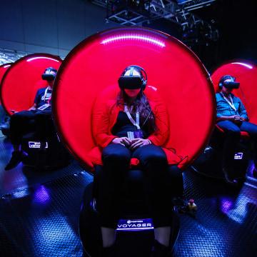 Image: Virtual reality chairs, SXSW