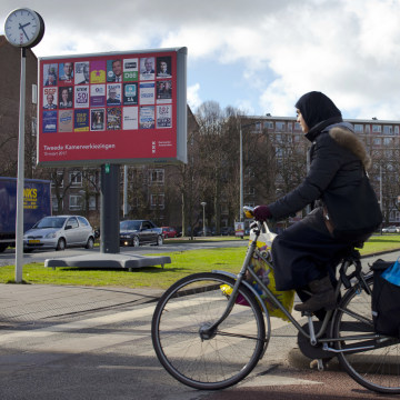 Image: Islamic headscarves have become an issue in this week's Dutch elections.