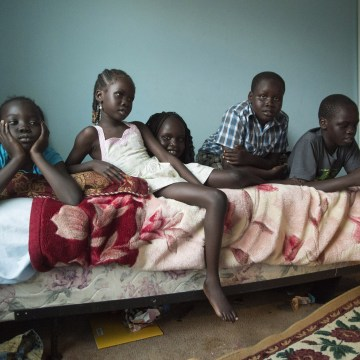 Image: Children of refugees who fled civil war in Sudan and have now resettled in Maryville, Tenn.