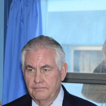 Image: US Secretary of State Rex Tillerson visits inter-Korean border village of Panmunjom