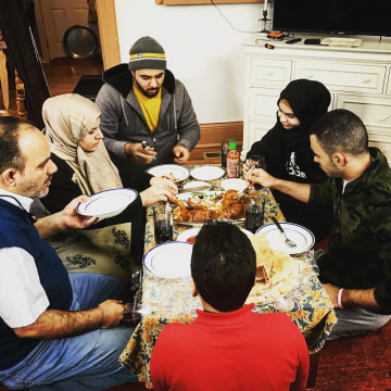 Image: The Al Salibi family is new to Erie, Pennsylvania, having arrived six months ago.