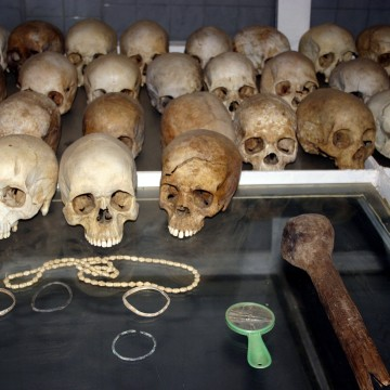 Image: Skulls of victims of the 1994 Rwandan genocide