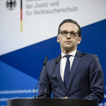 Image: Pressestatement of German Justice Minister Heiko Maas