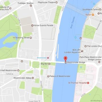 Image: Map of London around Parliament