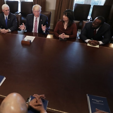 Image: President Trump Meets With Members Of The Congressional Black Caucus