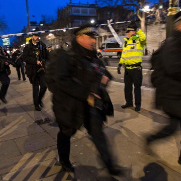 Image: Armed police at Whitehall