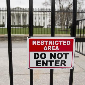 Image: White House security warning