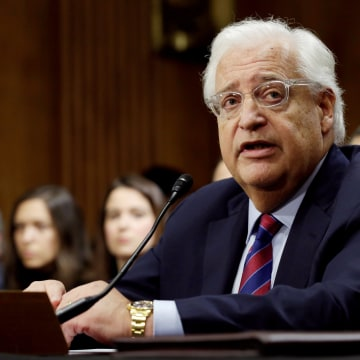 Image: FILE PHOTO --  David Friedman testifies before a Senate Foreign Relations Committee hearing on his nomination to be U.S. ambassador to Israel, on Capitol Hill in Washington