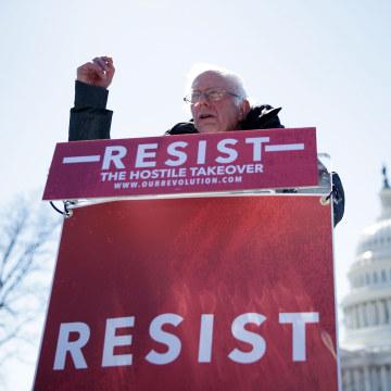 Image: Bernie Sanders on March 22, 2017