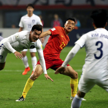 Image: China played South Korea on March 23, 2017