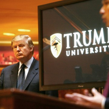 Image: Donald Trump announces the establishment of Trump University