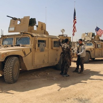 Image: American military vehicles in Syria