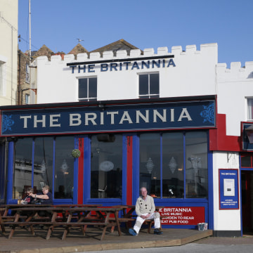 Image: The Britannia Pub in Margate, England