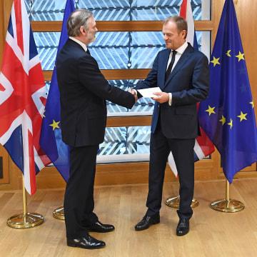 Image: Sir Tim Barrow and Donald Tusk