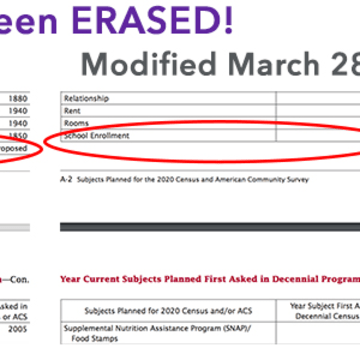Image showing removal of LGBT category from 2020 Census