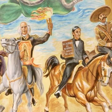 Mural of Mexican revolutionaries in Little Village, Chicago