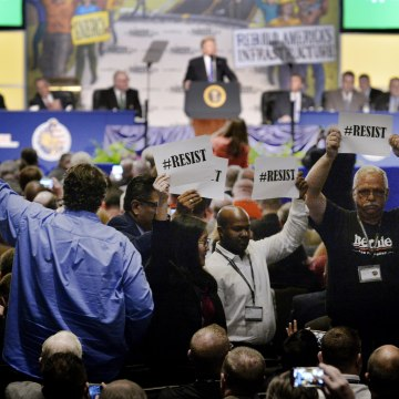 Image: President Trump delivers remarks at the 2017 North America's Building Trades Unions National Legislative Conference