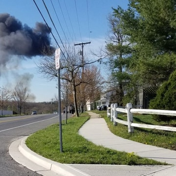 Image: A fighter jet crashed in a wooded area near Joint Base Andrews in Maryland