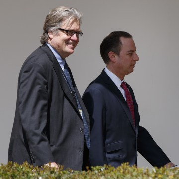 Image: Steve Bannon and Reince Priebus