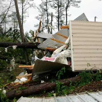 Image: Suspected tornado damage in Alabama