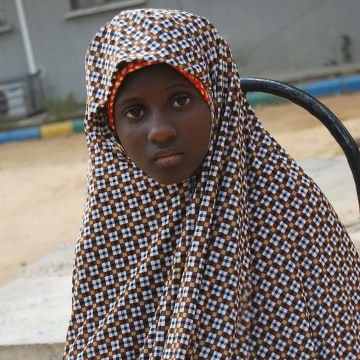 Zahra'u Babangida was arrested with explosives strapped to her body in Nigeria in 2014.
