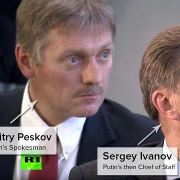 Dmitry Peskov and Sergey Ivanov