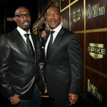 Image: Charlie Murphy and his brother Eddie Murphy