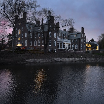Image: Evening at Choate Rosemary Hall, an elite boarding school in Wallingford, Connecticut, April 13, 2017.