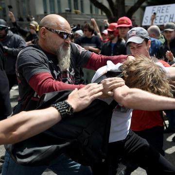 Image: A man gets hit in Berkeley