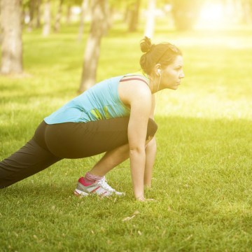 Image: Woman working out in the park