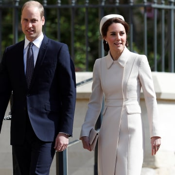 Image: Royals at Easter Sunday church service