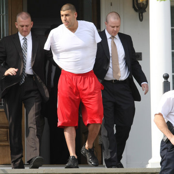 Image: Arrest Of New England Patriots Player Aaron Hernandez